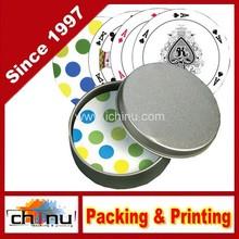Customized design Round Shape Playing Cards (430018)