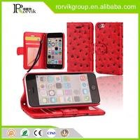 Wholesale wallet leather cheap mobile phone case for iPhone 5C