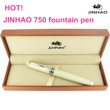 jinhao 750 cream color metal fountain pen promotion pen