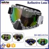 BJ-MG-013A Manufacturer Adult Reflective Letter Frame custom racing motorcycle sports goggles