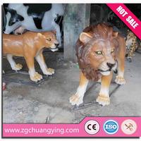 3.5m amusement park life size tiger animal statues
