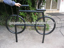 Black powder coated bicycle bike work stand bicycle rear rack