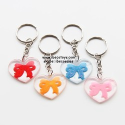 heart shaped key chain cheap capsule toy for kids