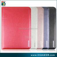 soft and close fitting book folio stand leather case cover for ipad mini2