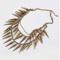 Europe and the United States foreign trade fashion atmospheric wind gold popular multilayer punk necklace for Halloween gifts
