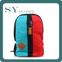 Stock Clearance Fashion School Children Quality Khaki Canvas Fit Backpack