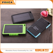 solar charger Ultrathin Portable External Battery Charger 8000mAh Power Bank