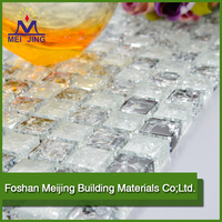 Building material glass mosaic ceramic tile triangle glass tile mosaic for home decoration
