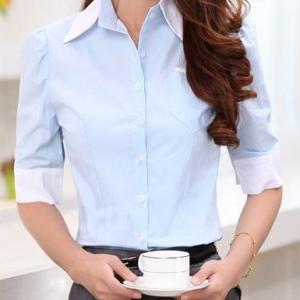 Nuevo dise o de moda blusas para uniformes de oficina Diseno de uniformes para oficina 2017