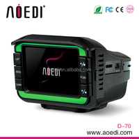 Radar detector with car dvr camera 2 in 1 with 120 degree wide angles 720p full hd D-70