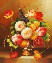 Handmade Still life painting funny modern flower oil art painting on canvas hot sale