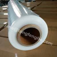 17 micron hot film lldpe clear industrial plastic wrap foil package