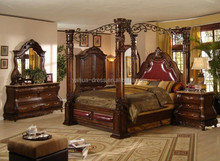 2015 wood carved bedroom furniture