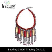 Top Design gun black hand woven chain necklace