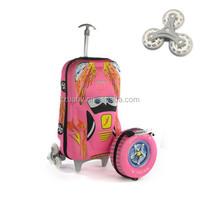 2015 Hottest 3D Print EVA Kids Trolley School Bag with 6 Wheels