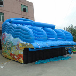 Fashionable commercial inflatable slid for water park,inflatable water park slide