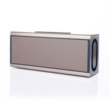 5W*2 powered mini speaker aluminum alloy housing active Bluetooth 4.0 wireless portable speaker with built-in TF card, USB read