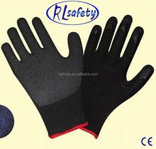 RL Safety EN388 EN420 Top Quality napped latex palmcoated gloves labor gloves