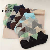 2015 custom design colorful cheap argyle invisible sport ankle socks China Manufacturer in high quality