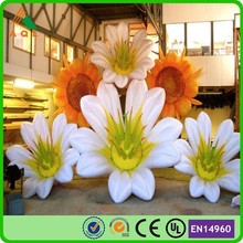 Newly event decoration giant inflatable flower decoration, inflatable led light