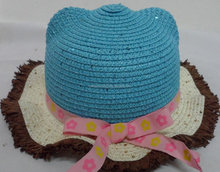 2015 Designed Party Hats Straw Wave-Brim Hats