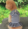 New Design Pet Clothing The Institute Wind Stripe Dress Dog Stripe Summer Nice Clothes