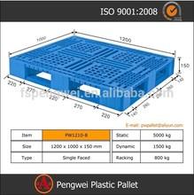 Tamaños estándares de paletas de plástico duraderas para los industriales
