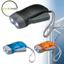 2 LED flashlight best promotional items 2 LED hand press dynamo flashlight
