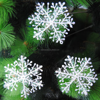 SDL023 Christmas Tree Decor Snow Flower Pendant Home Decor for Christmas happy day