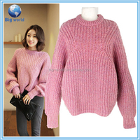 2015 fashion young breath warm Chunky Knits ladies woolen sweater