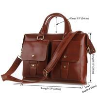 7001X Fashion Designer Genuine Leather Hard Shell Laptop Briefcase