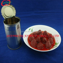 Canned fruit Strawberry 410g in light syrup Factory.