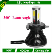 Wholesale high quality high low 4 side led h4 h6 h7 3000k 4300k 5000k 6000k motorcycle led headlight