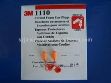 3m 1110 ear plugs 3M Corded Foam Ear Plugs 3M ear plugs with string Soft and comfortable