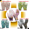 SRSAFETY cheap 13 gauge flower print polyester liner coated White Thin fitness gloves, garden working gloves, beautifui gloves