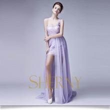 Sherny Bridals China Best Factory Flowing Long Chiffon Evening Dress