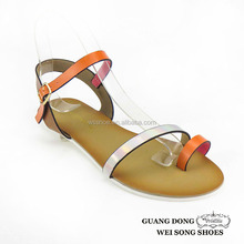 white outsole thong flat ankle strap buckle summer sandals flat shoes women 2015