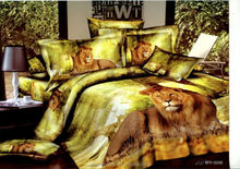 gold tiger king size duvet cover set 4pcs cotton 3d printed bedding set