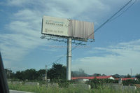 Outdoor advertising solar billboard display