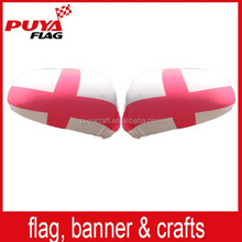 wholesale spandex&polyester printed England flag car mirror cover/custom UK car side mirror flag/national car mirror sock