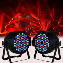 2Pcs DMX Party Show DJ Wedding 54x3w LED Stage Lights RGBW PAR 64 CAN 162w