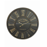 French antique decorative style metal wall clock