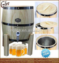 Stainless Steel Inside Wood Beer Keg with Customized Logo