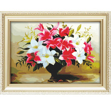 Best selling 40*50cm flower oil painting on canvas diy digital oil painting
