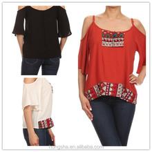 Wholesale korean clothes new design crop tops high fashion clothes for women HSB6286