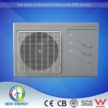 Plastic cabinet pool heat pump ceiling water/air/air source swimming pool heat pump water heater