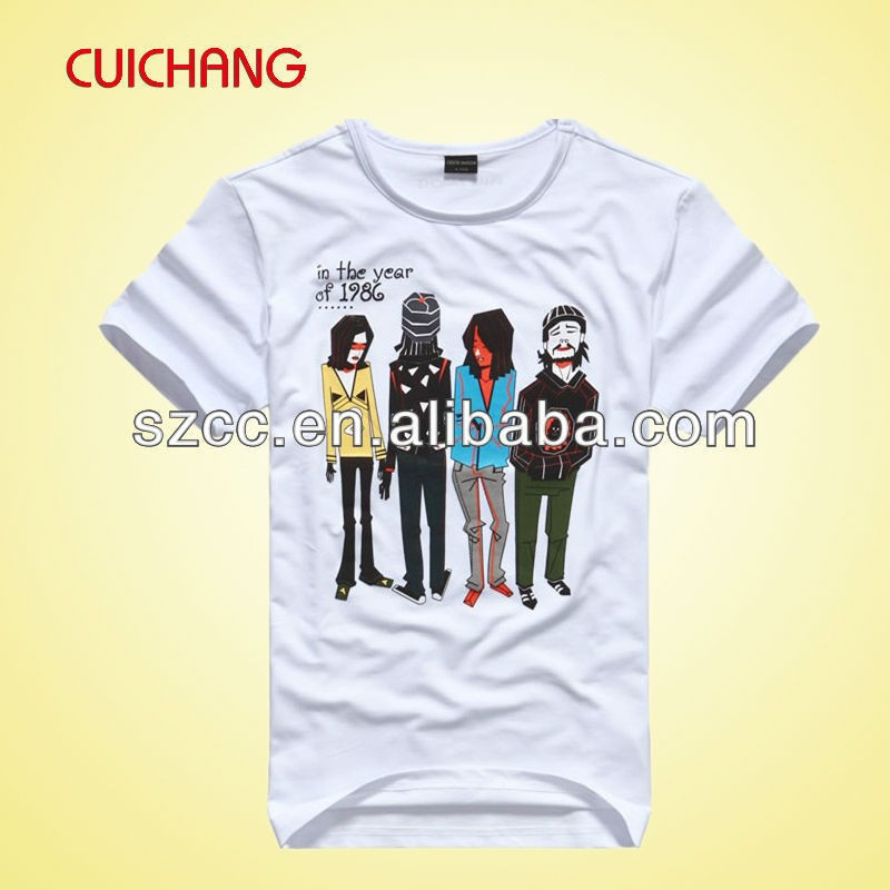 Wholesale fashion screen printing cotton custom design t for Cheap screen printed shirts