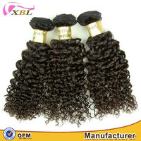 XBL hair free tangle and shedding short remi hair brazilian curly weave