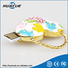 Best Selling Colorful Heart Bear Animal Jewerly USB Flash Stick for Ladies