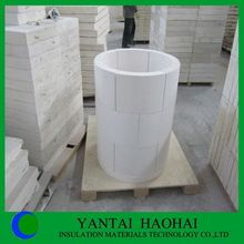 1050-1150 degree JN series calcium silicate pipe cover perfect sanding A1 low density and perfect sale prices from Yantai Haohai